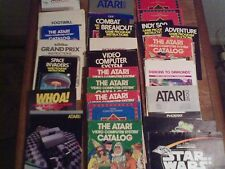 Lot of 24 Assorted Atari Guides and Manuals NO GAMES