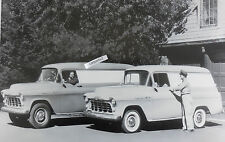 """12 By 18"""" Black & White Picture 1956 Chevrolet Panels, 3100 & 3600 models"""