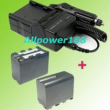 BATTERY + CHARGER FOR NP-F970 NP-F960 SONY DCR-VX2100 HVR-Z1U HDR-FX1 HVRZ1U
