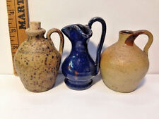 3 Mini Jugs Seagrove North Carolina NC Pottery Dixieland Pottery, Maness & Gordy