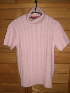 PULL ANGORA ROSE COL ROULE