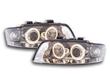 Coppia fanali fari proiettori Audi A4 8E 2001 > 2004 cromati  con Angel Eyes