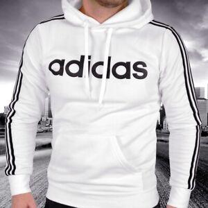 Adidas Kapuzen Pullover Kinder Hoodie Sweater Sweat Shirt Jungs weiß/schwarz NEU