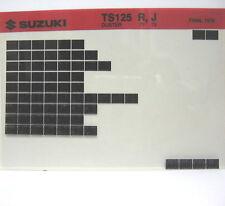 Suzuki TS125 Duster 1971 1972 Parts Microfiche s196