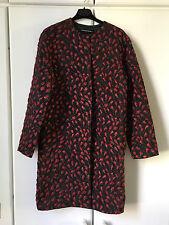 New Cristiano Burani 3D rose print coat jacket Size I42