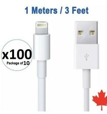 100x 3FT 1M 8 Pin USB Data Sync Charger Cable for iPhone X 8 7 7+ 6 6 5S SE iPad