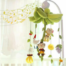 Relaxing Musical Nursery Crib Bed Baby Music Box Night Lights Motion Mobile Toy