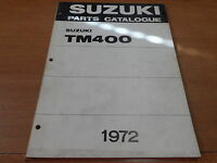 OEM Suzuki 1972 TM400 Parts catalogue 2nd Edition