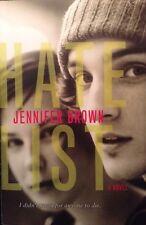 Hate List by Jennifer Brown Paperback Book Redemption Relationships Columbine
