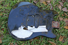 1970s OVATION PREACHER GUITAR BODY in BLACK for YOUR PROJECT or NECK! LOT #C873