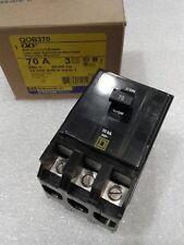 Qob370 Square D Circuit Breaker 70A 3 Pole 240V New!