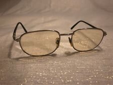 Fendi Glasses Vintage Silver Tone Black Rubber Prescription 140mm Italy