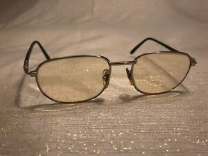 Fendi Glasses Vintage Silver Tone Black Rubber Prescription 140mm Italy