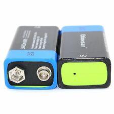 2 x 3600MWH ETINESAN 9V Li-polymer rechargeable lithium li-ion li-po battery