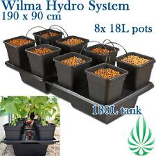 8x18L Wilma Drip Irrigation Large Hydroponic Grow System 190x90cm Indoor Grow