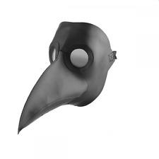 Peste médico Máscara-Halloween Disfraz Cosplay aterrador para Adultos Negro One Size