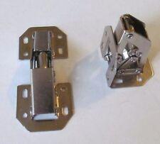 2 Nickel Plated Self Closing 90-Degree Surface Mount Spring Cabinet Door Hinge