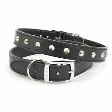 Ancol Leather Collar Studded Black - 24 - 871466