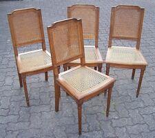vier (4) Stühle Gründerzeit mit Geflecht