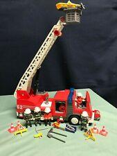 Playmobil 3879 Fire Engine Ladder Truck Extra Firemen / Accessories EUC