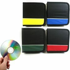 2 Pc CD Holder 48 Capacity DVD Case Storage Wallet Disc Media Book DJ Organizer