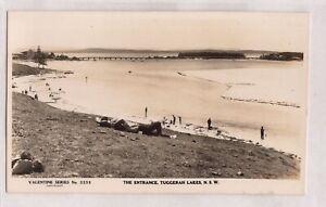 VINTAGE POSTCARD RPPC THE ENTRANCE, TUGGRAH LAKES NSW 1900s