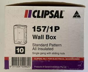 Clipsal 157/1P Wall Box. Box Of 10.