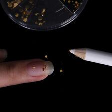 5x Nail Art Manicure Dotting Pen Tool Nail Rhinestone Bead Picker Wax Pencil W&C
