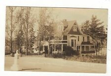 EDGE MIRROR LODGE,LAKE PLACID.N.Y.    1927.OLD R.P POSTCARD