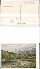 307307,Künstler AK Hugo Darnaut Reichenau Raxalpe Bergkulisse
