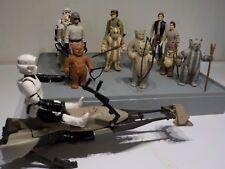 Star Wars Vintage Ewoks, Leia, Han, Biker Scout last 17 Paploo ,Lumat , weapons