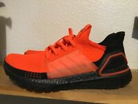 Men's Adidas Ultra Boost 19 Solar Red Core Black Size 10 G27131 running sneakers