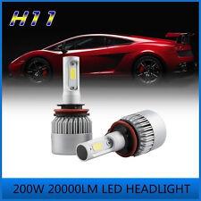 200W H11 20000LM PHILIPS COB LED Headlight Low Beam Bulbs 6000K White High Power
