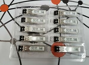 LOT of 10x AGM731F Netgear Compatible SFP SX 1Gb/s Transceivers, USED