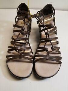 JBU Size 10M Black Gladiator Synthetic Women Sandal Shoes