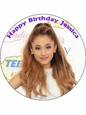 "7.5"" Ariana Grande Personalised Edible Premium Rice Paper Cake Topper"