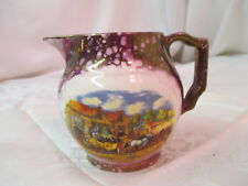 Vintage England Gray's Pottery Copper Luster Creamer Pitcher pink Dicken's Days
