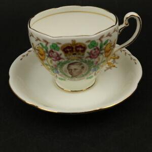 AB Jones Grafton China  Edward VIII 1937 Coronation Cup & Saucer - Unusual