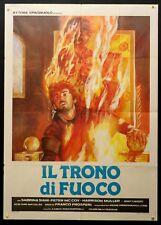 IL TRONO DI FUOCO 1983 Franco Prosperi SABRINA SIANI, PETER McCOY, MANIFESTO