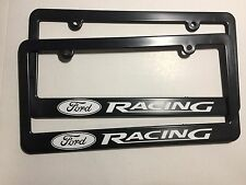 Ford Racing Logo Plastic License Frame Vinyl Decal Two