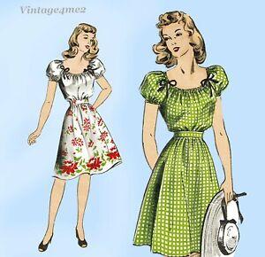 Du Barry 5854: 1940s Easy Misses Skirt & Blouse Size 34 B Vintage Sewing Pattern