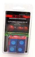 BCE Snooker. SUPAPRO CHALK BLUE ( 4 Cubes ) ( Snooker Cue / Pool Chalk)