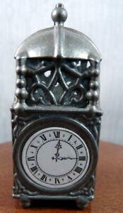 Antique c.1900 German Metal CLOCK Dollhouse Miniature