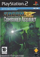 SOCOM US NAVY SEALS COMBINED ASSAULT for Playstation 2 PS2 - PAL