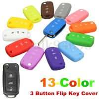 For VW Golf Passat Polo Scirocco Remote Key Fob Silicone Case Shell Cover
