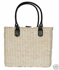 BORGHESE SIGNATURE SUMMER STRAW BEACH TOTE BAG *NEW* A1