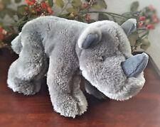 """Gray Rhino Rhinoceros Bean Bag Africa Jungle Animal Aurora A & A Plush Toy 11"""""""