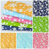 Per HALF metre Sunshine Daisies, POLYCOTTON Fabric 112cm wide, 5 colours