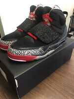 New Nike Air Jordan Son of Mars Black Cement/Cool Gray/White/Red 512245-001 9.0