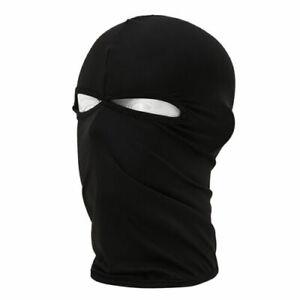New Black Ultra thin 2 hole Balaclava Ski Moto Bike Face Mask Sports Swat SAS UK